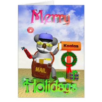 Mailman Koala Merry Holidays Card
