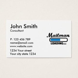 Mailman loading business card