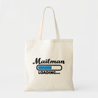Mailman loading tote bag
