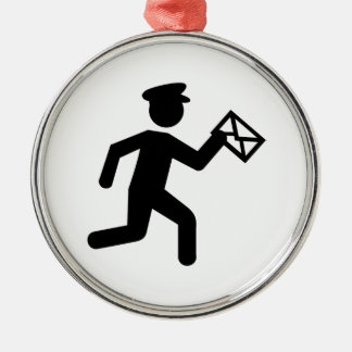 Mailman Metal Ornament