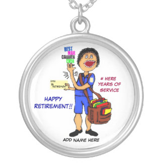 Mailman Retirement Keepsake Silver Plated Necklace