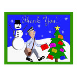 Mailman THANK YOU POSTCARDS  (MALE)