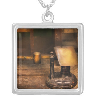 Mailman - The Mail Scale Square Pendant Necklace