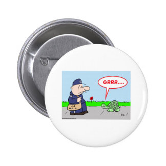 MAILMAN TURTLE GRRR PINBACK BUTTON