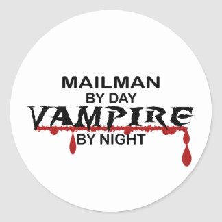 Mailman Vampire by Night Classic Round Sticker