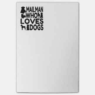 Mailman Who Loves Dogs Post-it® Notes