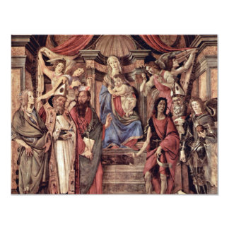 Main Altarpiece Plate: Enthroned Madonna Four 4.25x5.5 Paper Invitation Card