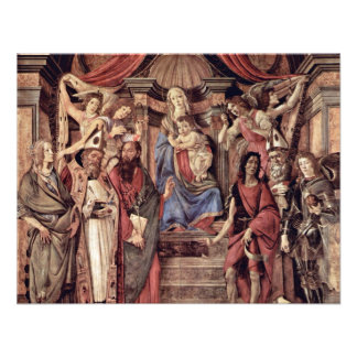 Main Altarpiece Plate: Enthroned Madonna Four Invitations