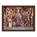 Main Altarpiece Plate: Enthroned Madonna Four Invitation