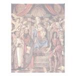 Main Altarpiece Plate: Enthroned Madonna Four Letterhead