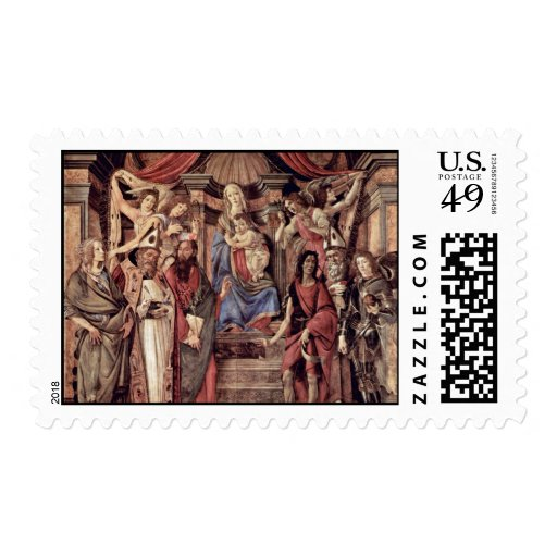 Main Altarpiece Plate: Enthroned Madonna Four Stamps