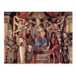 Main Altarpiece Plate: Enthroned Madonna Four Postcards