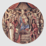 Main Altarpiece Plate: Enthroned Madonna Four Stickers
