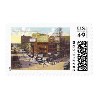 Main and Niagara Sts., Buffalo, New York Vintage Postage