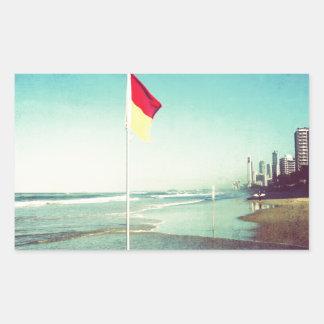 Main Beach Gold Coast Rectangular Sticker