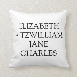 Main Characters from Pride and Prejudice Throw Pillow
