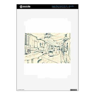 main characters room iPad 3 decal