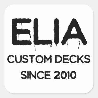 main clear logo square sticker
