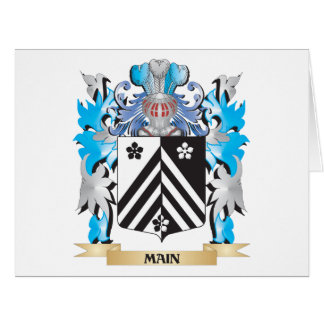 Main Coat of Arms - Family Crest Greeting Cards