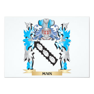 Main Coat of Arms - Family Crest Invitations