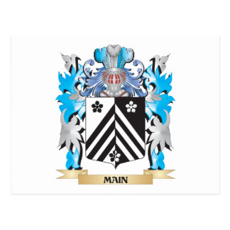 Main Coat of Arms - Family Crest Postcard