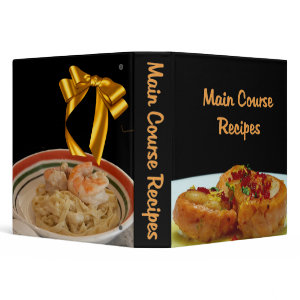 Main Course Recipes Keepsake Binder binder