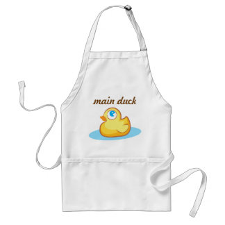 Main duck cook yellow rubber duckie apron