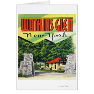 Main Entrance View to Watkins Glen State Park Greeting Card