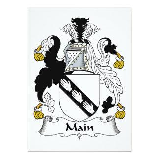 Main Family Crest Invitations