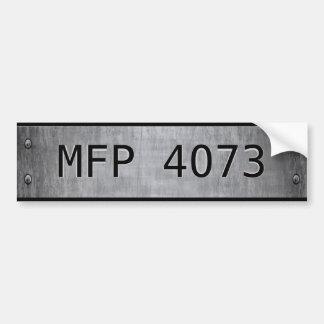 Main Force Patrol 4073 Auto Bumper Sticker