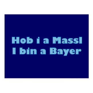 Main header on behalf Massl i is A Bavarian Postcard