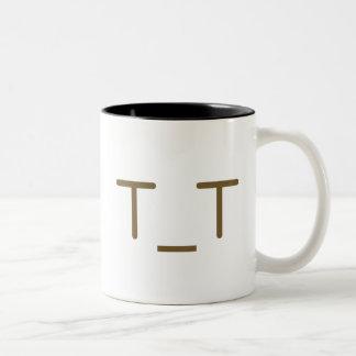 Main ji< Kaomoji >collection☆ Two-Tone Coffee Mug