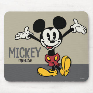Main Mickey Shorts | Arms Up Mouse Pad