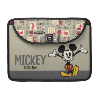 Main Mickey Shorts   Arms Up Sleeve For MacBook Pro
