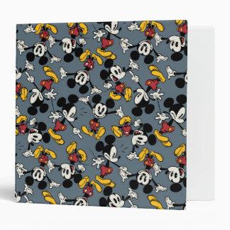 Main Mickey Shorts | Blue Icon Pattern 3 Ring Binder