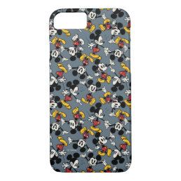 Main Mickey Shorts   Blue Icon Pattern iPhone 8/7 Case