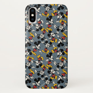 Main Mickey Shorts | Blue Icon Pattern iPhone X Case