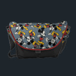 "Main Mickey Shorts | Blue Icon Pattern Messenger Bag<br><div class=""desc"">Mickey Mouse</div>"
