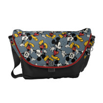 Main Mickey Shorts | Blue Icon Pattern Messenger Bag