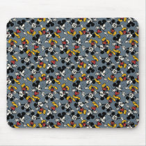 Main Mickey Shorts | Blue Icon Pattern Mouse Pad