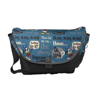 Main Mickey Shorts | Donald Duck Blue Pattern Messenger Bag