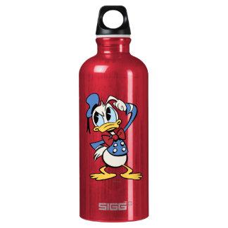 Main Mickey Shorts | Donald Thinking Aluminum Water Bottle