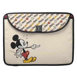 Main Mickey Shorts   Mickey Pointing Out Sleeve For MacBooks