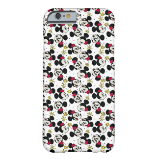 Main Mickey Shorts   Minnie Head Pattern Barely There iPhone 6 Case