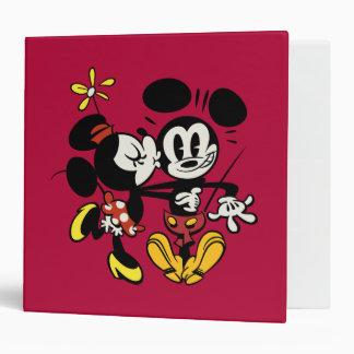 Main Mickey Shorts | Minnie Kissing Mickey 3 Ring Binder
