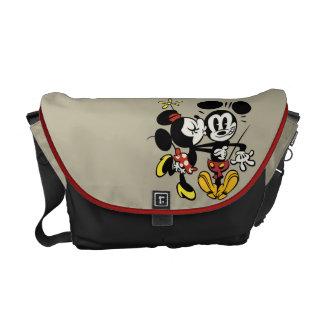 Main Mickey Shorts | Minnie Kissing Mickey Courier Bag