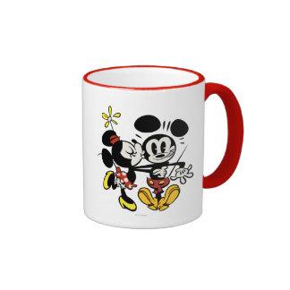 Main Mickey Shorts | Minnie Kissing Mickey Ringer Mug