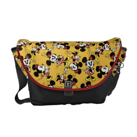 Main Mickey Shorts | Minnie Mouse Orange Pattern Messenger Bag