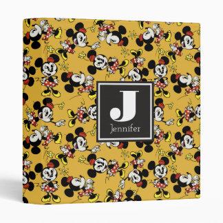 Main Mickey Shorts | Minnie Mouse Yellow Pattern Binder