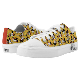Main Mickey Shorts | Minnie Mouse Yellow Pattern Low-Top Sneakers